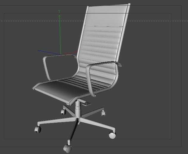 Free office chair model   c4d and obj | RenderPimp