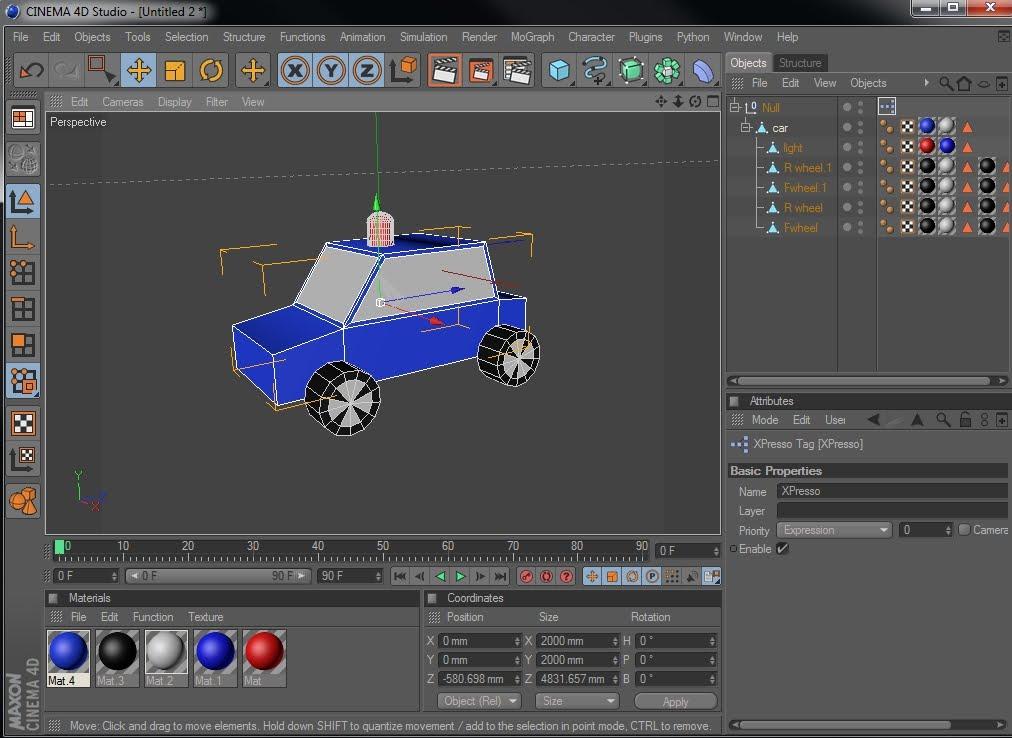 Basic XPresso car tutorial | RenderPimp